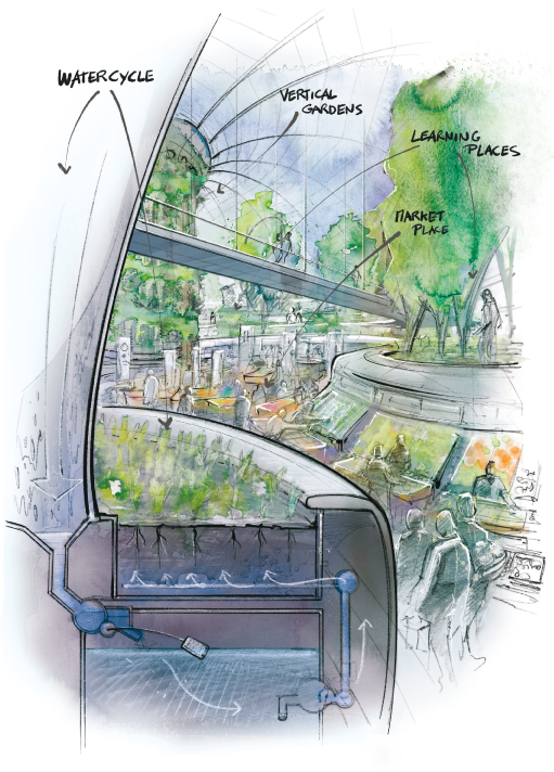 eco city scetch